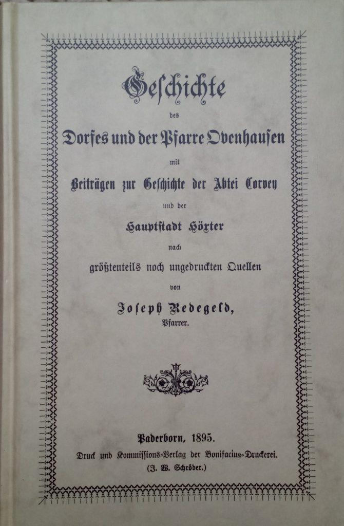 Veröffentlichung der Dorfgeschichte durch Pfarrer Redegeld